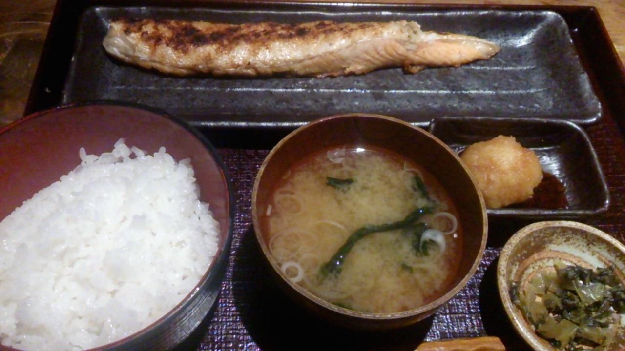 鮭のハラス定食