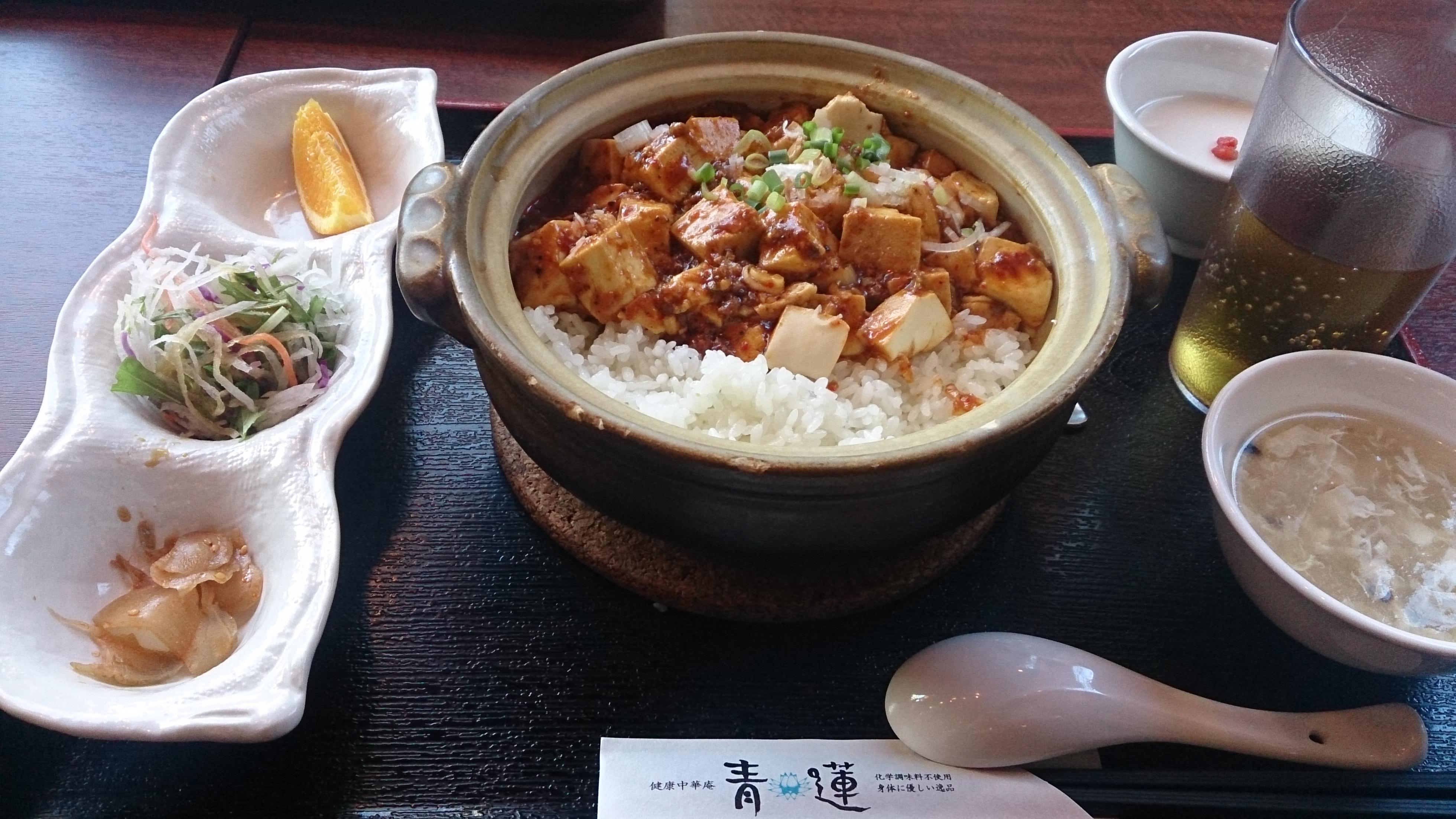 麻婆豆腐あんかけ